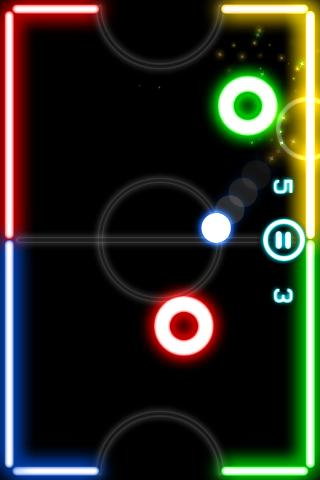 Glow Hockey- screenshot