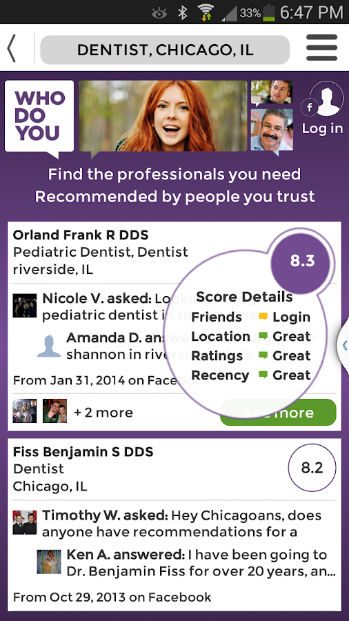 WhoDoYou - Trusted Referrals - screenshot