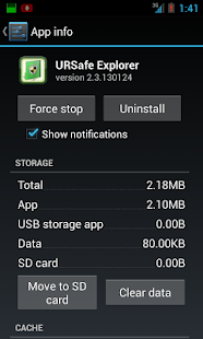 URSafe App Backup/Restore - screenshot thumbnail