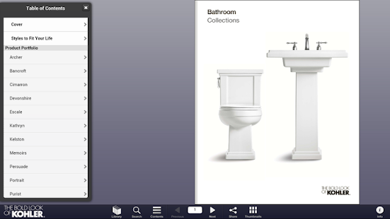 Kohler Catalogs - screenshot thumbnail
