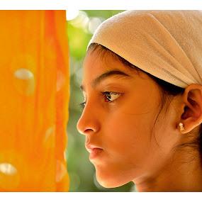 Deep thoughts by Madhu Payyan Vellatinkara - Babies & Children Children Candids ( freshness, kids, yellow, nikon, bokeh )