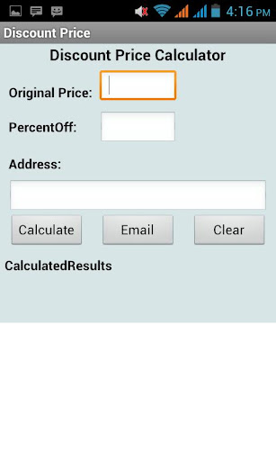 Discount Price Calculator