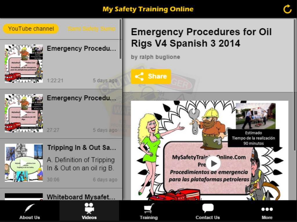 Mysafetytrainingonline- screenshot