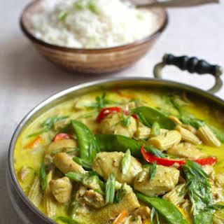 Slow Cooker Coconut Ginger Chicken & Vegetables.