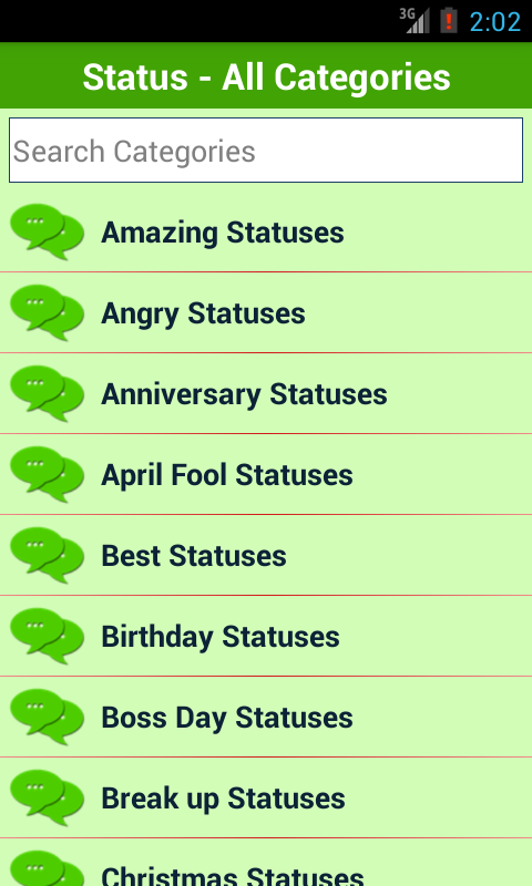 Status for Whatsapp + Facebook - screenshot