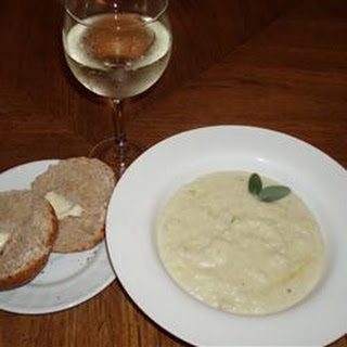 Cream of Cauliflower and Stilton Soup.