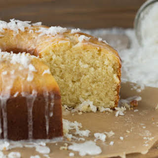 Coconut Pound Cake with Coconut Glaze.
