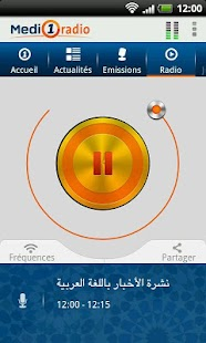 Medi1 radio- screenshot thumbnail