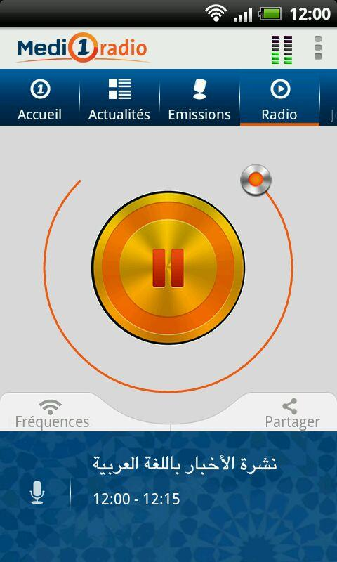 Medi1 radio- screenshot