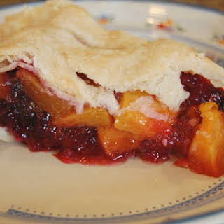 Peach and Blackberry Pie.