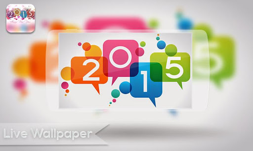 Live Wallpaper - New Year 2015