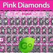 GO Keyboard Pink Diamonds