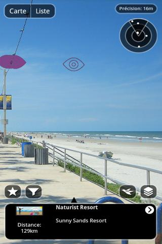 AR Nudist beach scanner - screenshot
