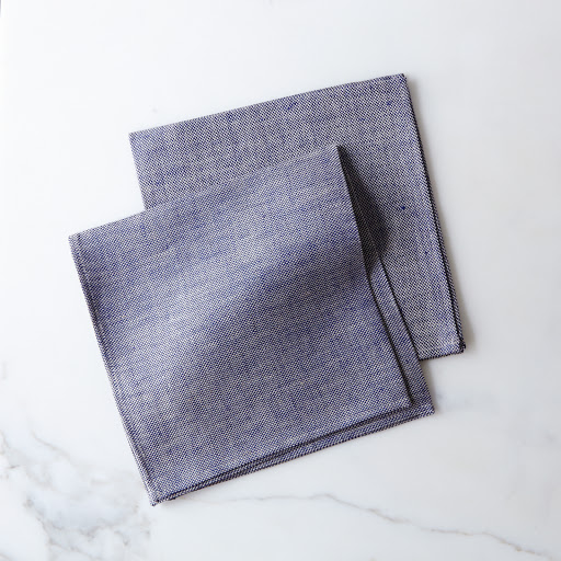 Thick Linen Chambray Napkins (Set of 2)