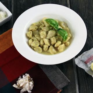 Gnocchi in Parmesan Garlic Sauce.