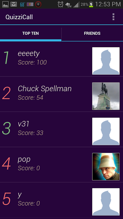 QuizziCall (Trivia Quiz Game) - screenshot