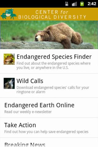 Species Finder - screenshot