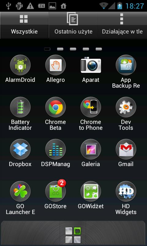 Sense 4 Go Launcher theme - screenshot