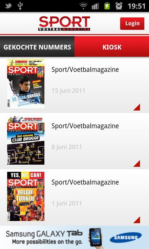 Sport/Voetbalmagazine - screenshot