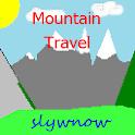 Mountain travel icon