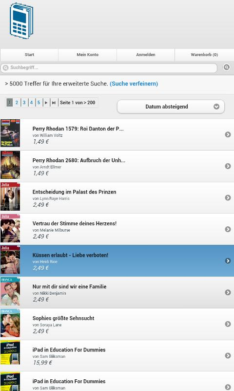 Mobile Ebooks - screenshot
