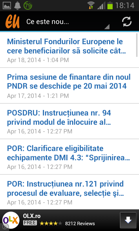 Fonduri Europene- screenshot