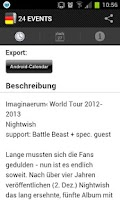 Screenshot of 24 EVENTS › Eventguide