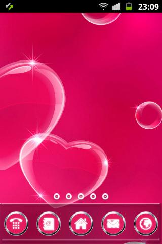 粉紅色的心GO桌面