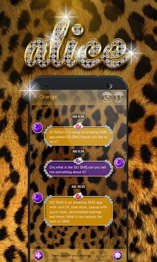 GO SMS PRO ALICE THEME