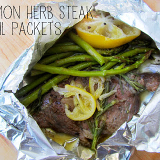 Lemon Herb Steak Foil Packet Summer Grilling