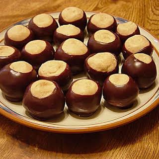 Peanut Butter-Chocolate Buckeyes.