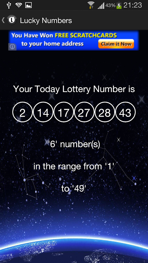 Today Lucky Number- screenshot