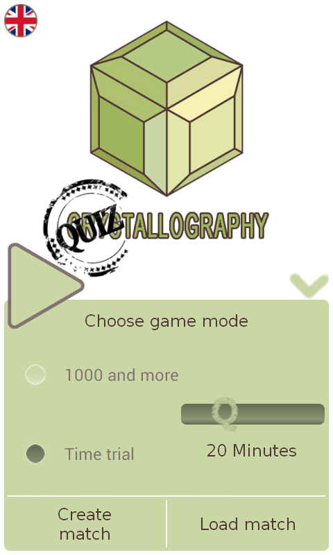 Quiztallography- screenshot