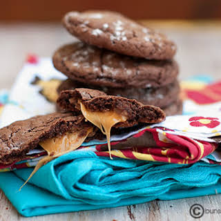 Rolo Cake Mix Cookies.