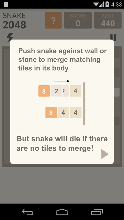 Snake 2048- screenshot