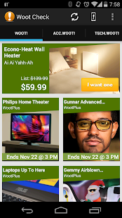 Woot Check - Daily Deals - screenshot thumbnail