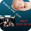 Newborn Baby Sleep: Inside Car logo