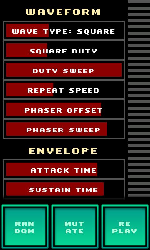 SFXR- screenshot