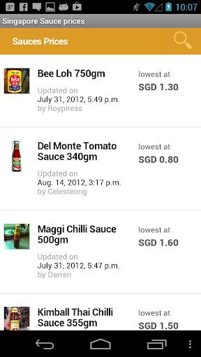 Singapore Sauce prices