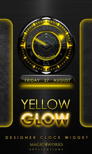 Yellow Glow Magic Clock Widget