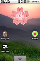 Screenshot of Sakura Clock Widget