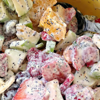 Fresh Fruit Salad & Poppyseed Dressing.