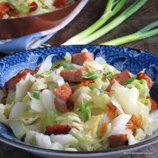 Super Easy Sausage and Cabbage Dinner.