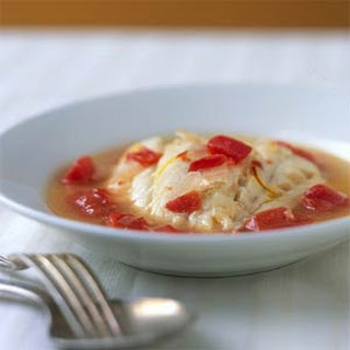 Cod Poached in Tomato-Saffron Broth