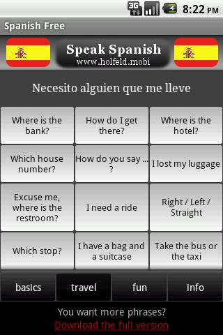 Speak Spanish Free- screenshot