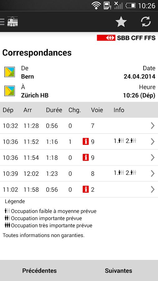 Mobile CFF - screenshot