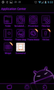 GOSMS DeepPurple Theme - Free - screenshot thumbnail