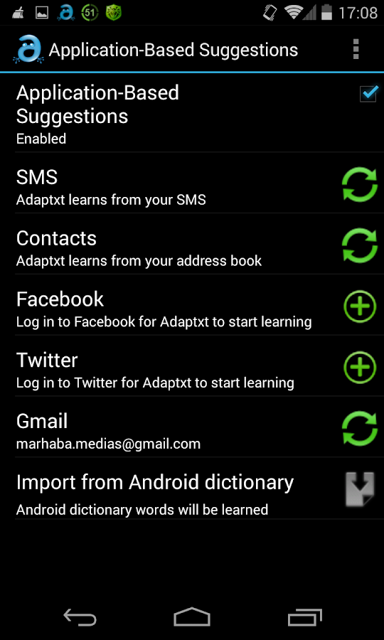 Adaptxt Keyboard - screenshot
