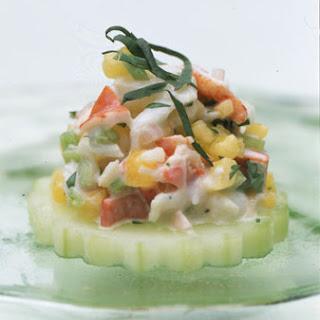 Lobster Salad Canapes.
