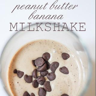 Chocolate Peanut Butter Banana Milkshake.